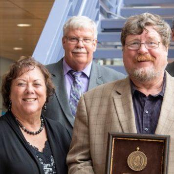 Faculty member receiving award in 2019