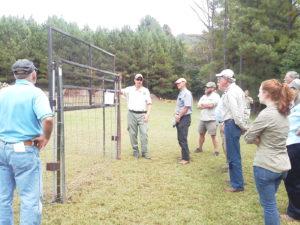 TWRA hog trap demonstration