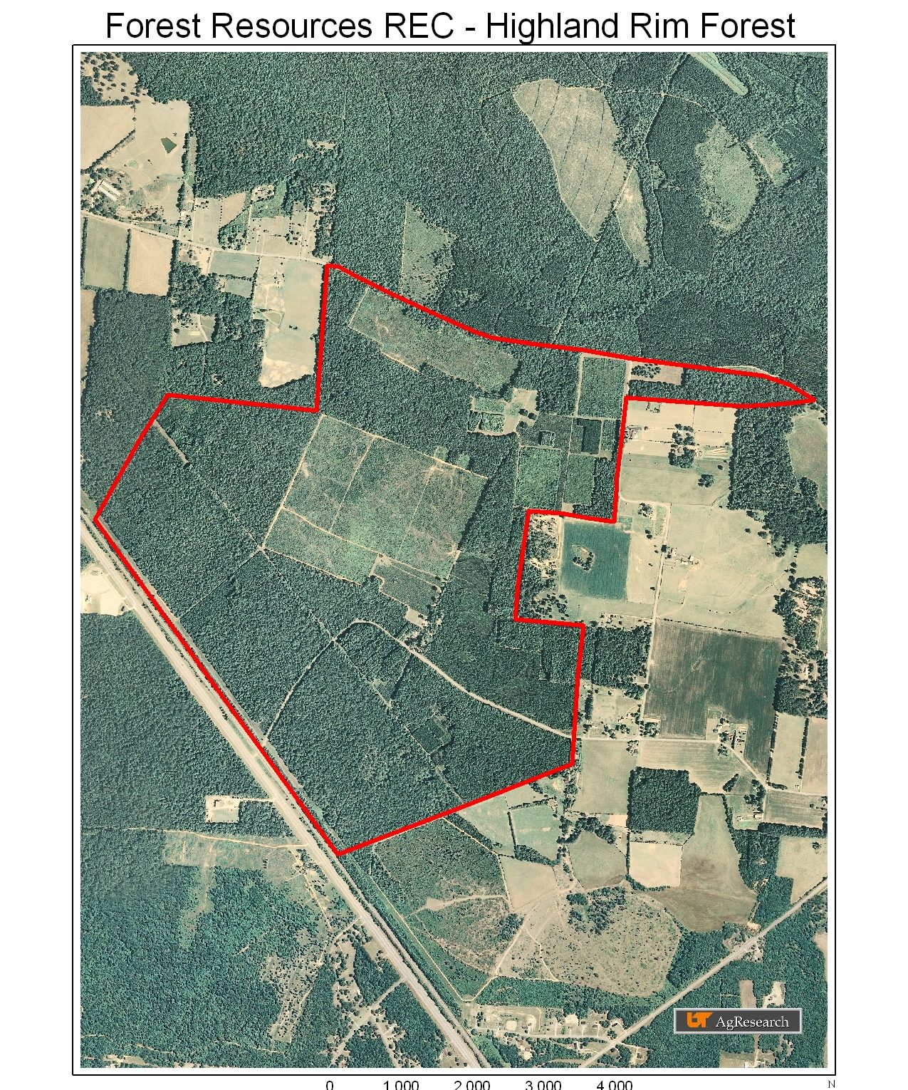 Aerial image icon for Highland Rim Forest Unit
