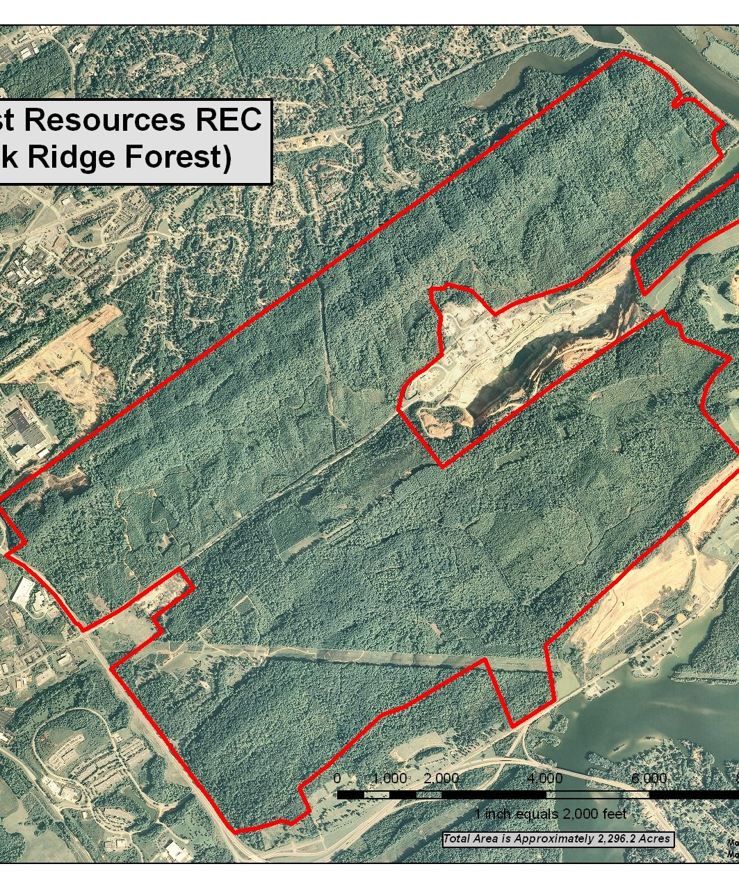 Oak Ridge Forest aerial map