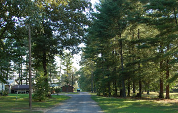 Highland Rim Forest driveway and residence